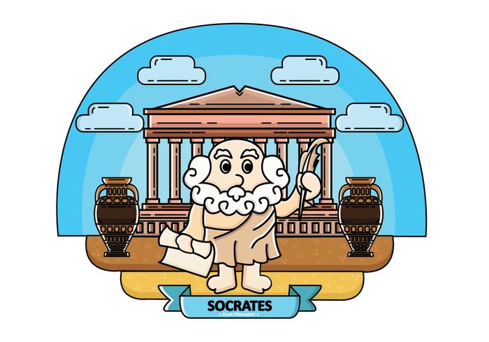 Freier Sokrates-Vektor vektor