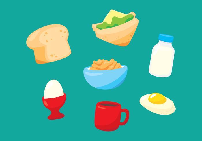 Frukost Mat och dryck vektor