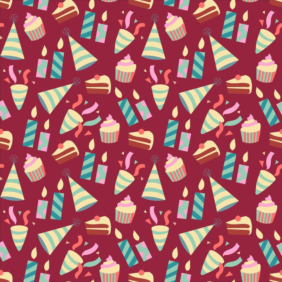 Alles Gute zum Geburtstag nahtloses Muster vektor