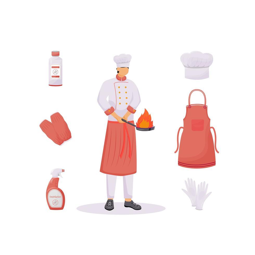 Küchenkleidung eingestellt vektor