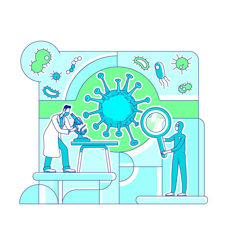 Virologie Wissenschaftslabor vektor