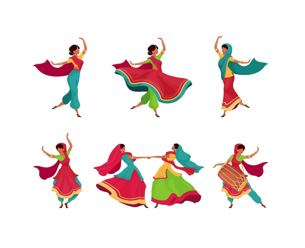 indische Feiertagsfeier Zeichen gesetzt vektor
