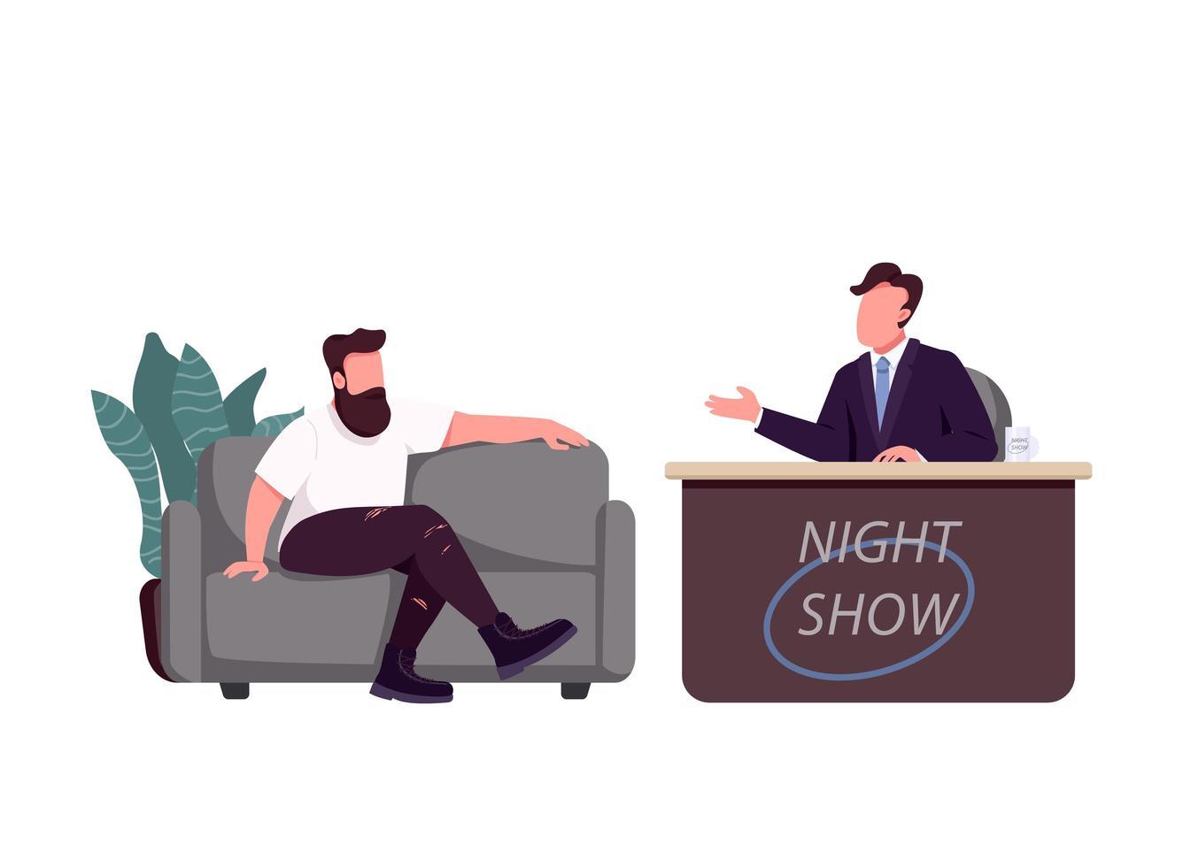 Talkshow-Moderator und Gast vektor