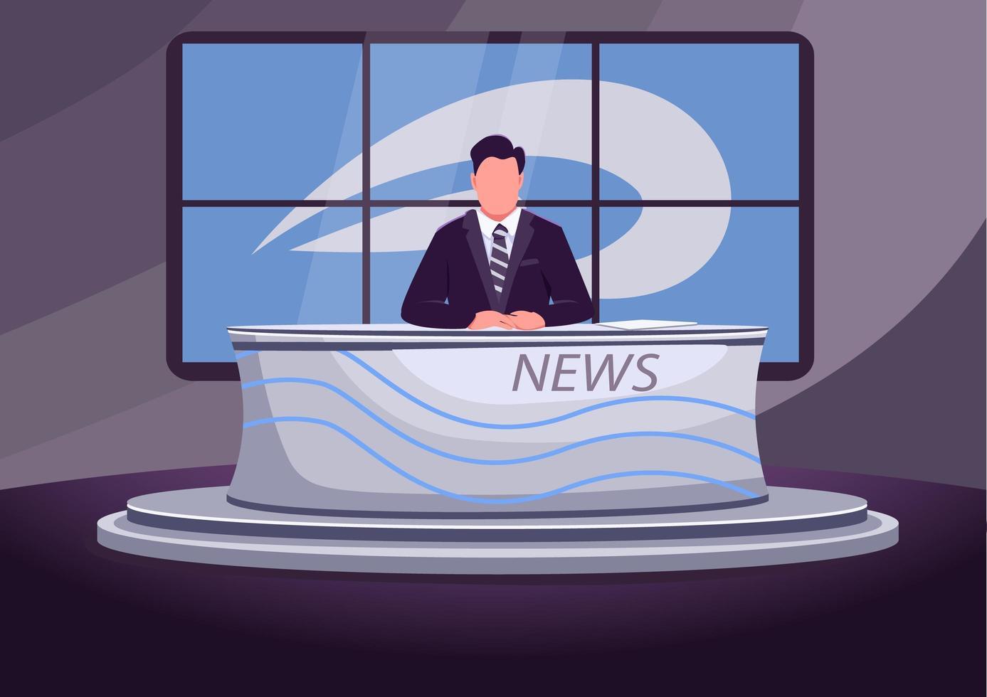 Nachrichtensendung Bühne vektor