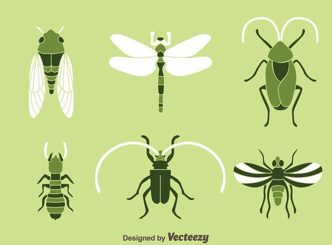 Insekt ikoner vektor