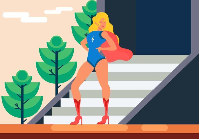 Schöne Superwoman Vektor