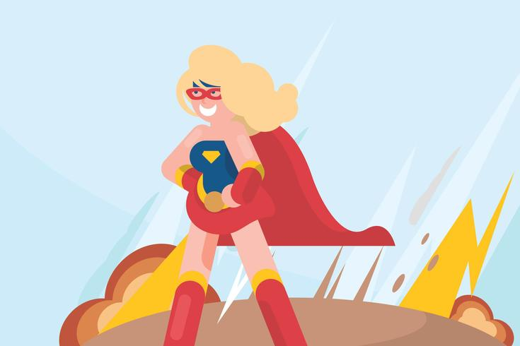 Super Frau Illustration vektor