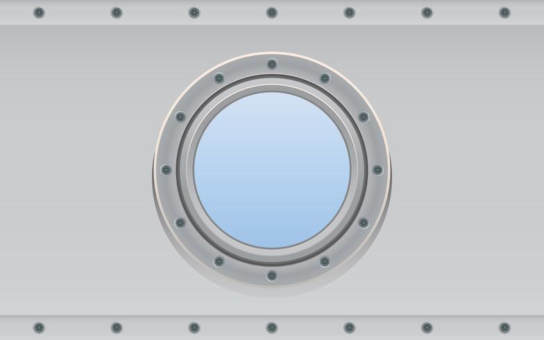 U-Boot-Metall-Seitenöffnung für Unterwasser vektor