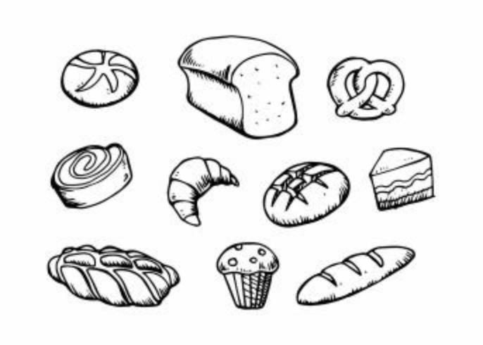 Gratis Pastry Hand Drawn Icon Vector