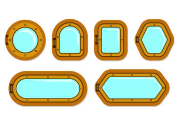 Set von Bullauge-Symbol vektor