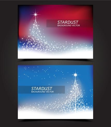 Stardust Weihnachtsbaum Karte Vektoren