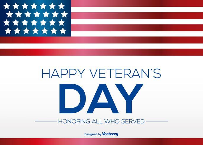 Glückliche Veterans Day Illustration vektor