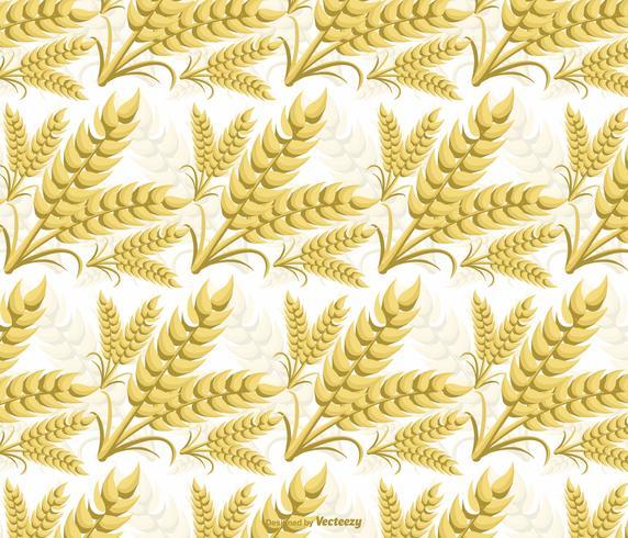 Seamless Vector Wheat Ears Pattern
