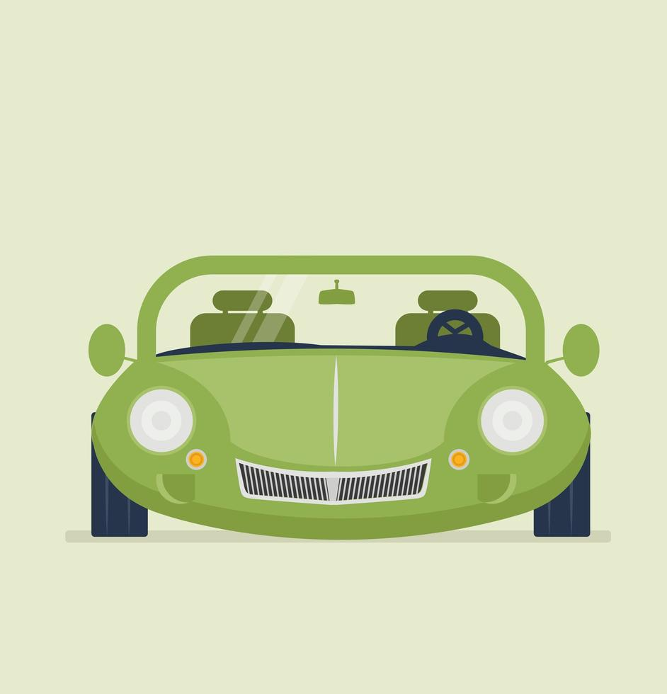grüner Autovektorillustrator vektor