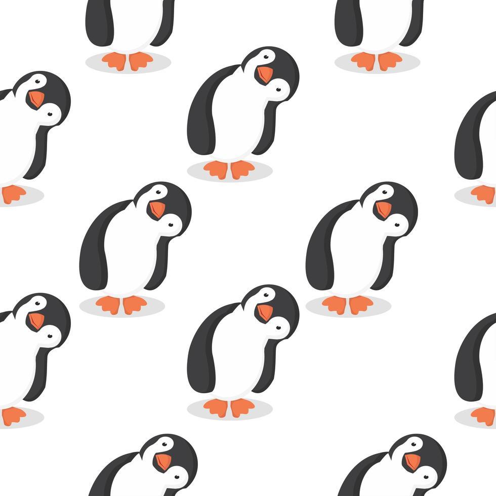 niedliches Pinguin-Karikaturmuster vektor