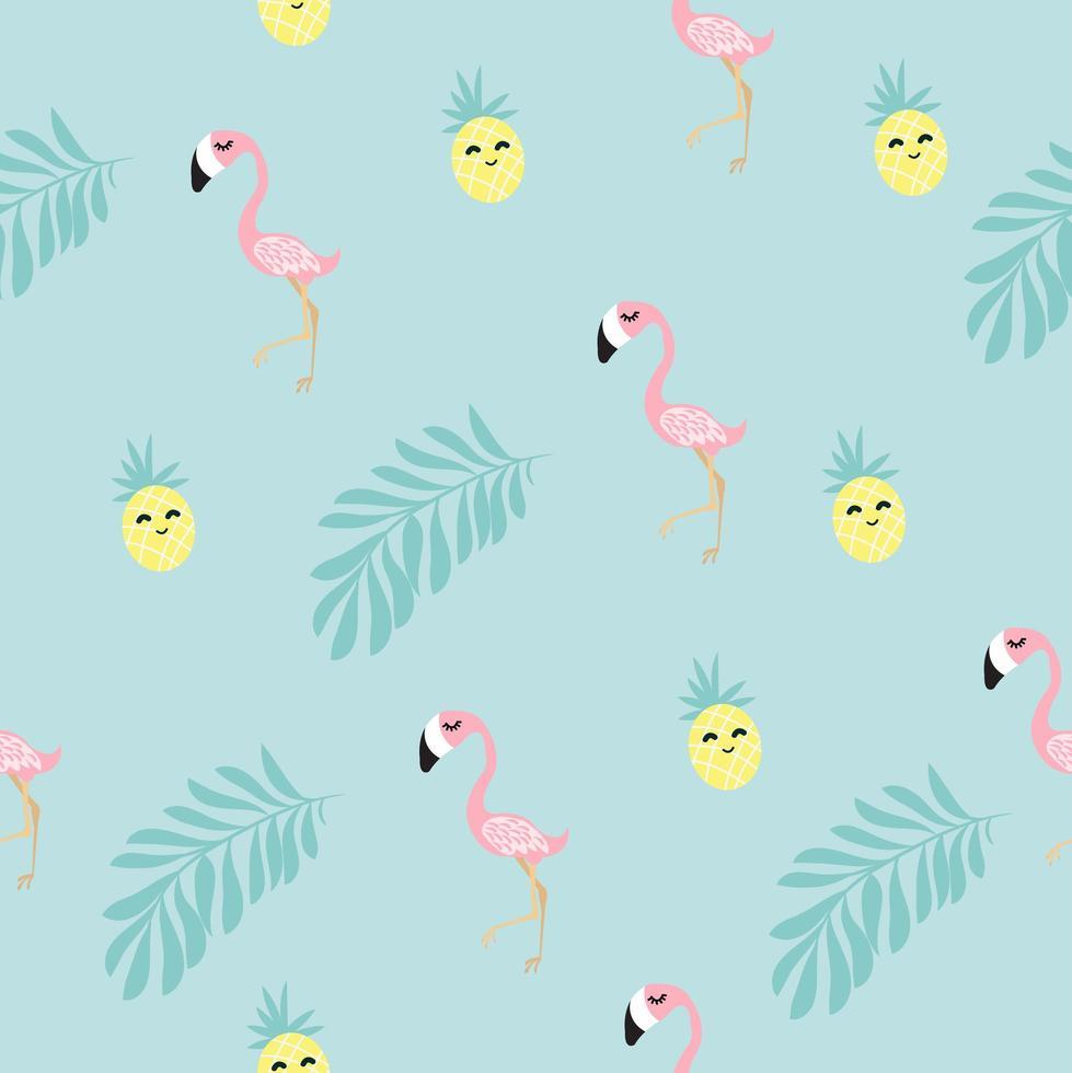 tropisches nahtloses Flamingo-Muster vektor