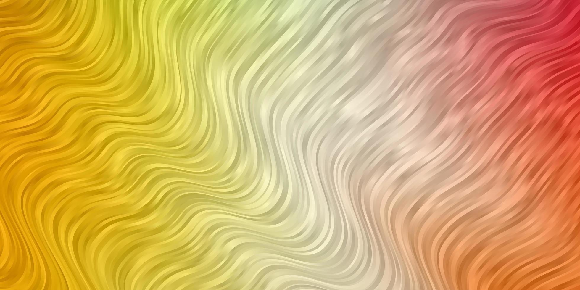 hellgrünes, rotes Layout mit Kurven. vektor