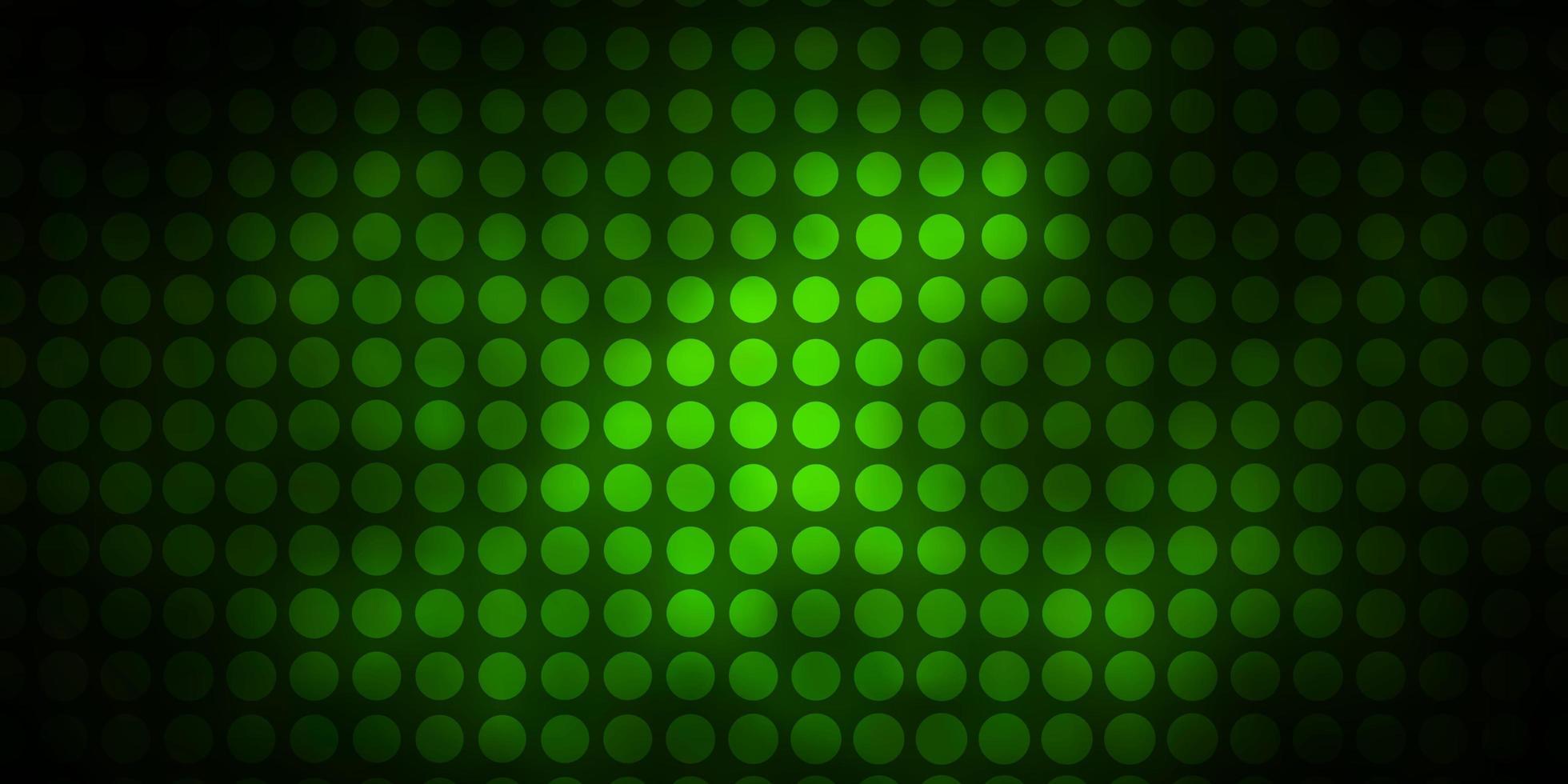 mörkgrön layout med cirklar vektor