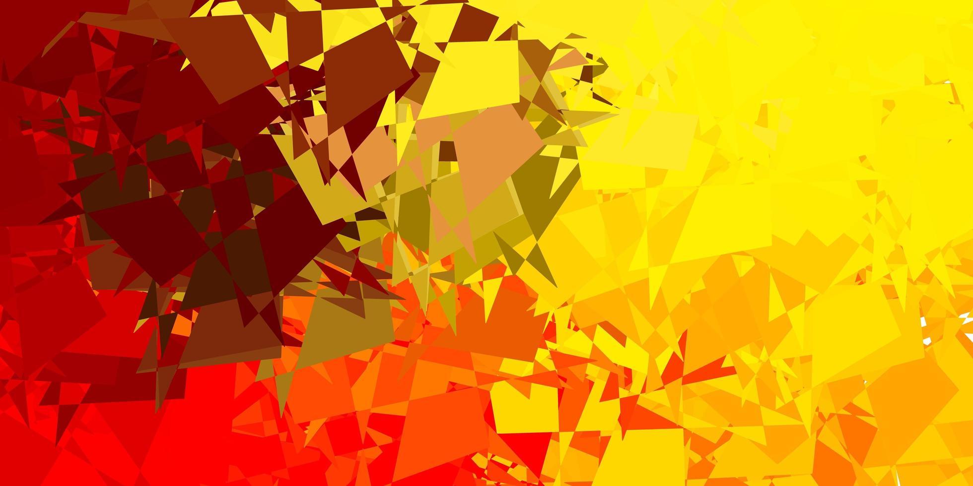 hellroter, gelber Hintergrund mit zufälligen Formen. vektor