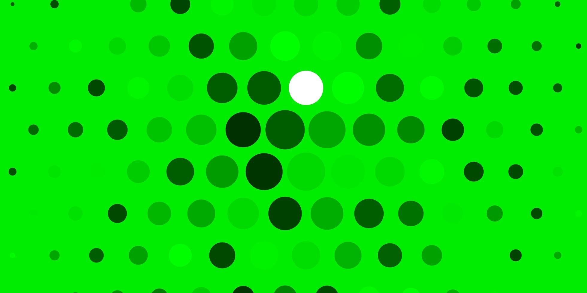 hellgrüner Hintergrund mit Kreisen. vektor