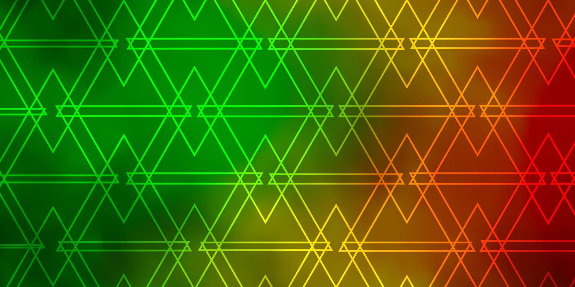 dunkelgrünes, gelbes Muster mit polygonalem Stil. vektor
