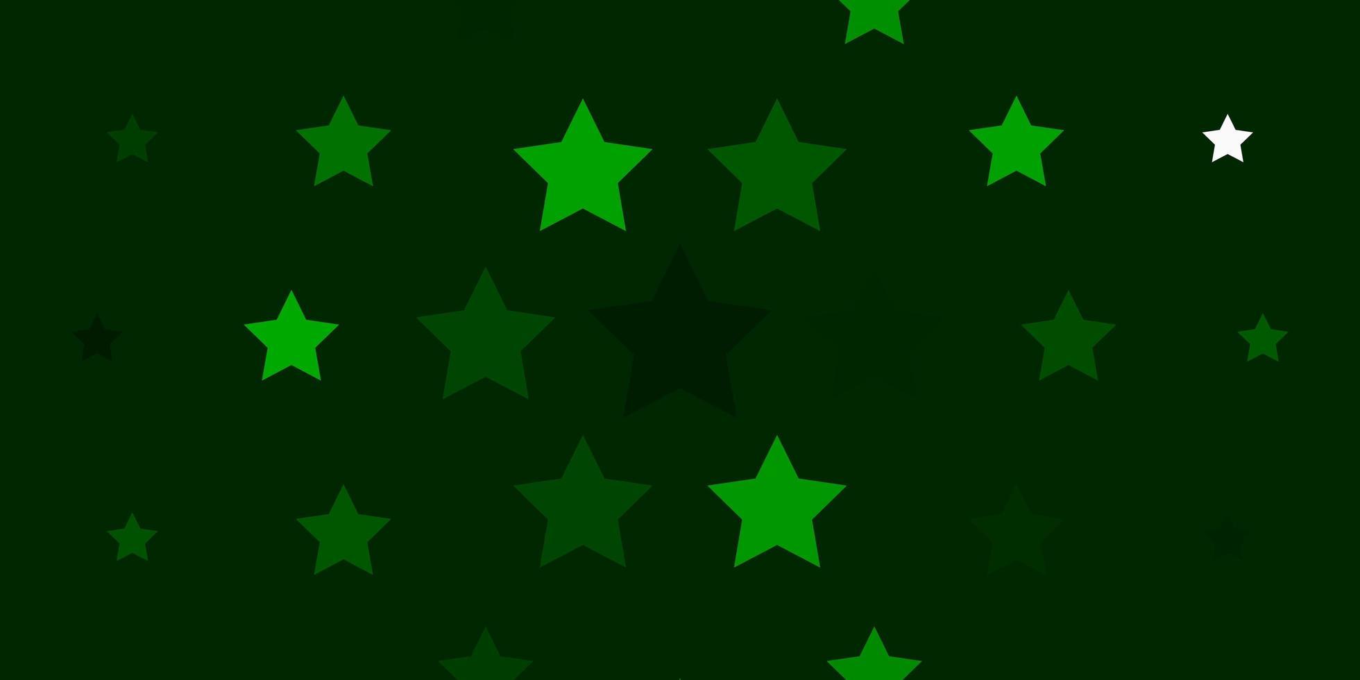 hellgrüne Schablone mit Neonsternen. vektor