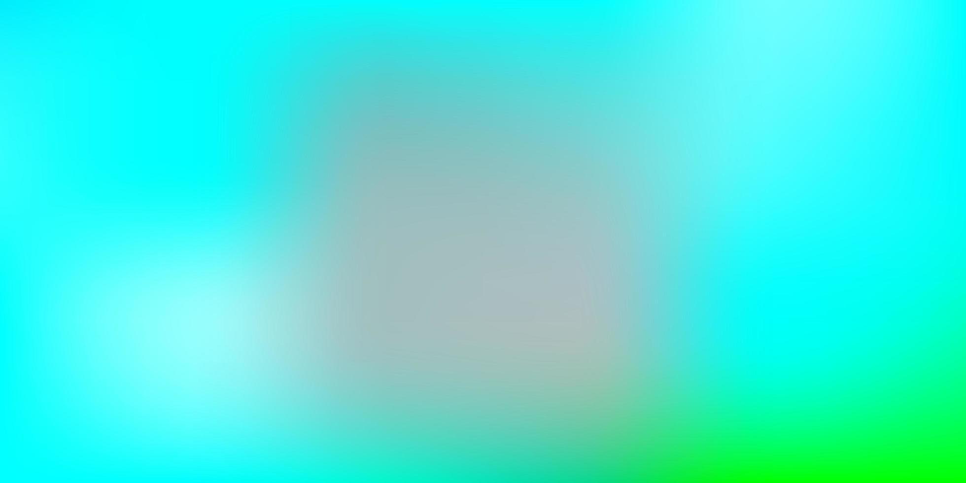 hellblauer, grüner Unschärfehintergrund. vektor