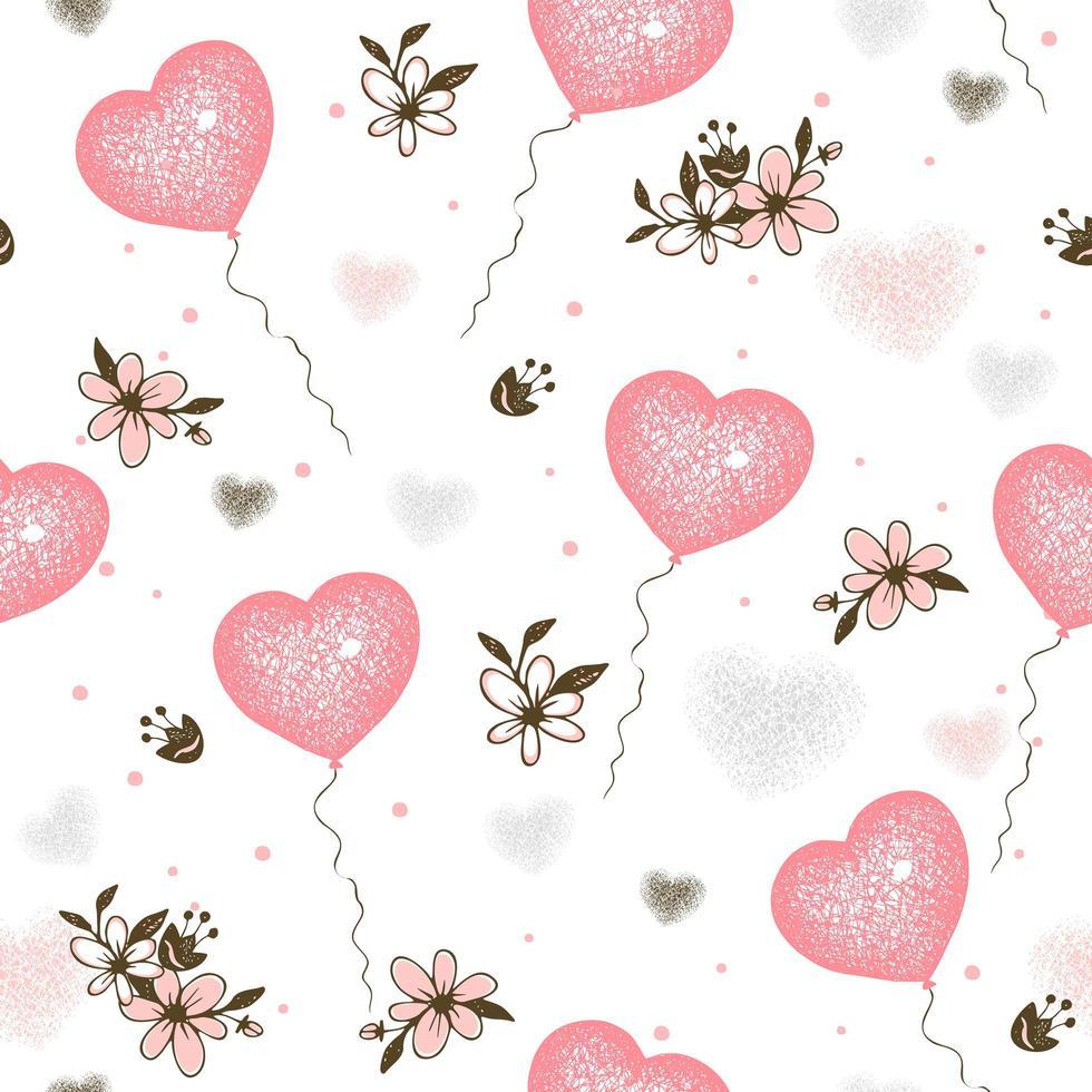 Luftballons Herzen zum Valentinstag vektor