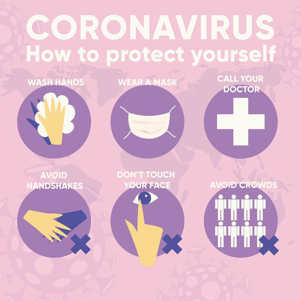 Infografik für Coronavirus 2019-ncov. vektor