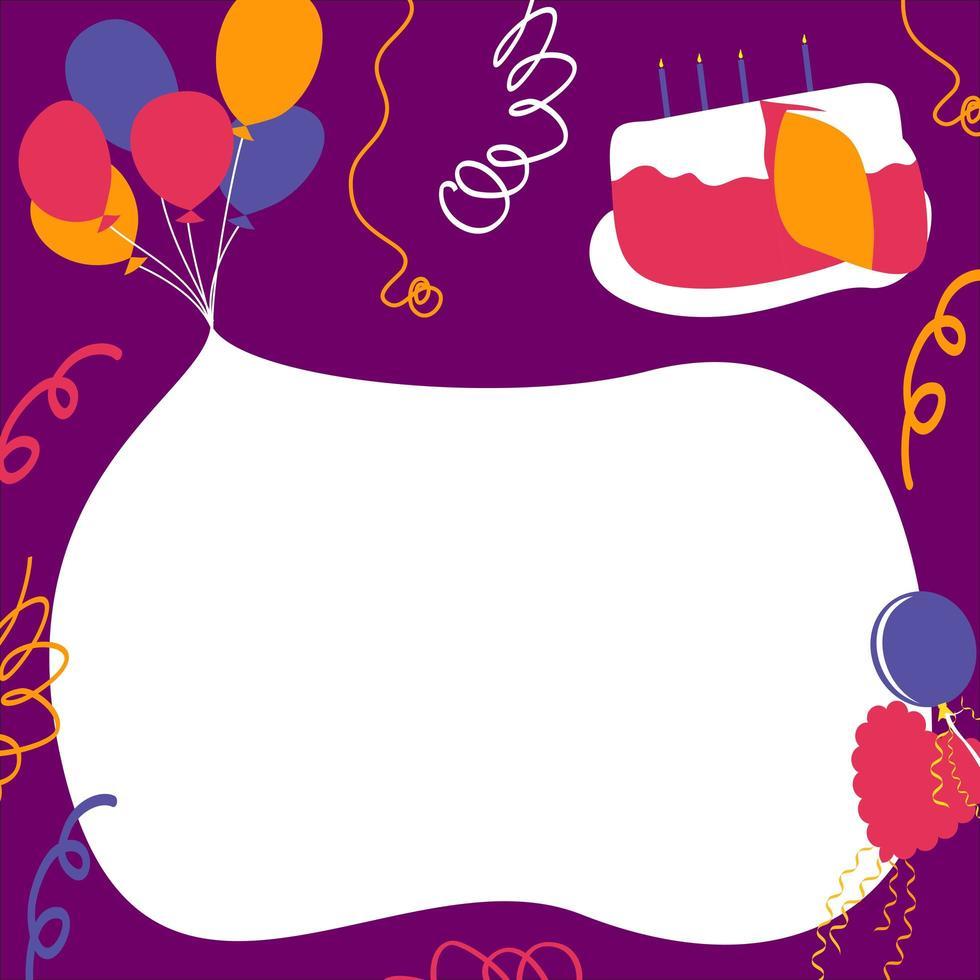 Alles Gute zum Geburtstag Party Elemente Hintergrund vektor