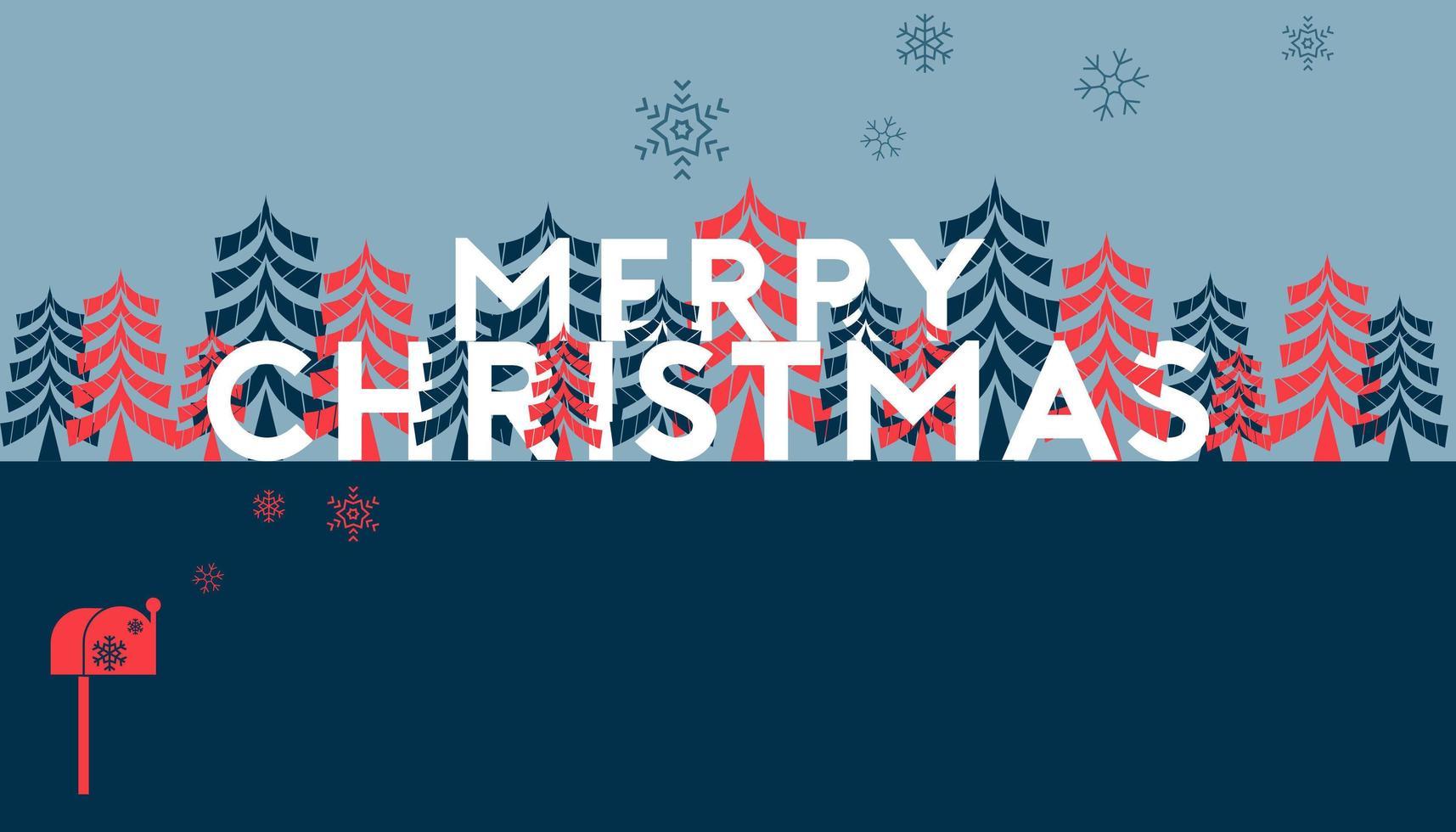 god jul och tallmall vektor