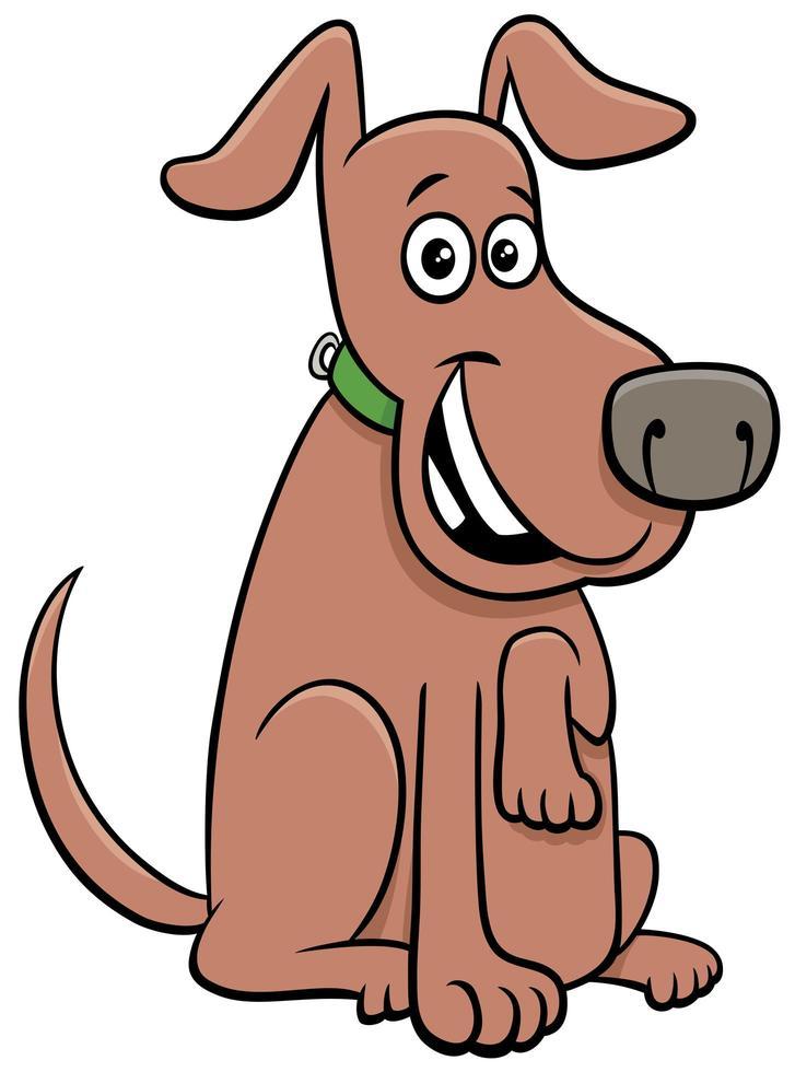 glad sittande hund husdjur djur karaktär vektor