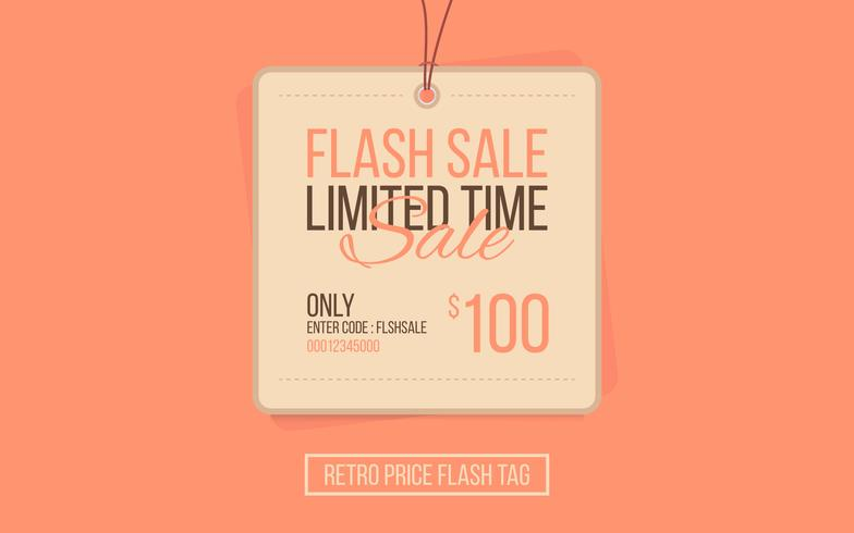 Preis Flash Retro Sale Tag vektor