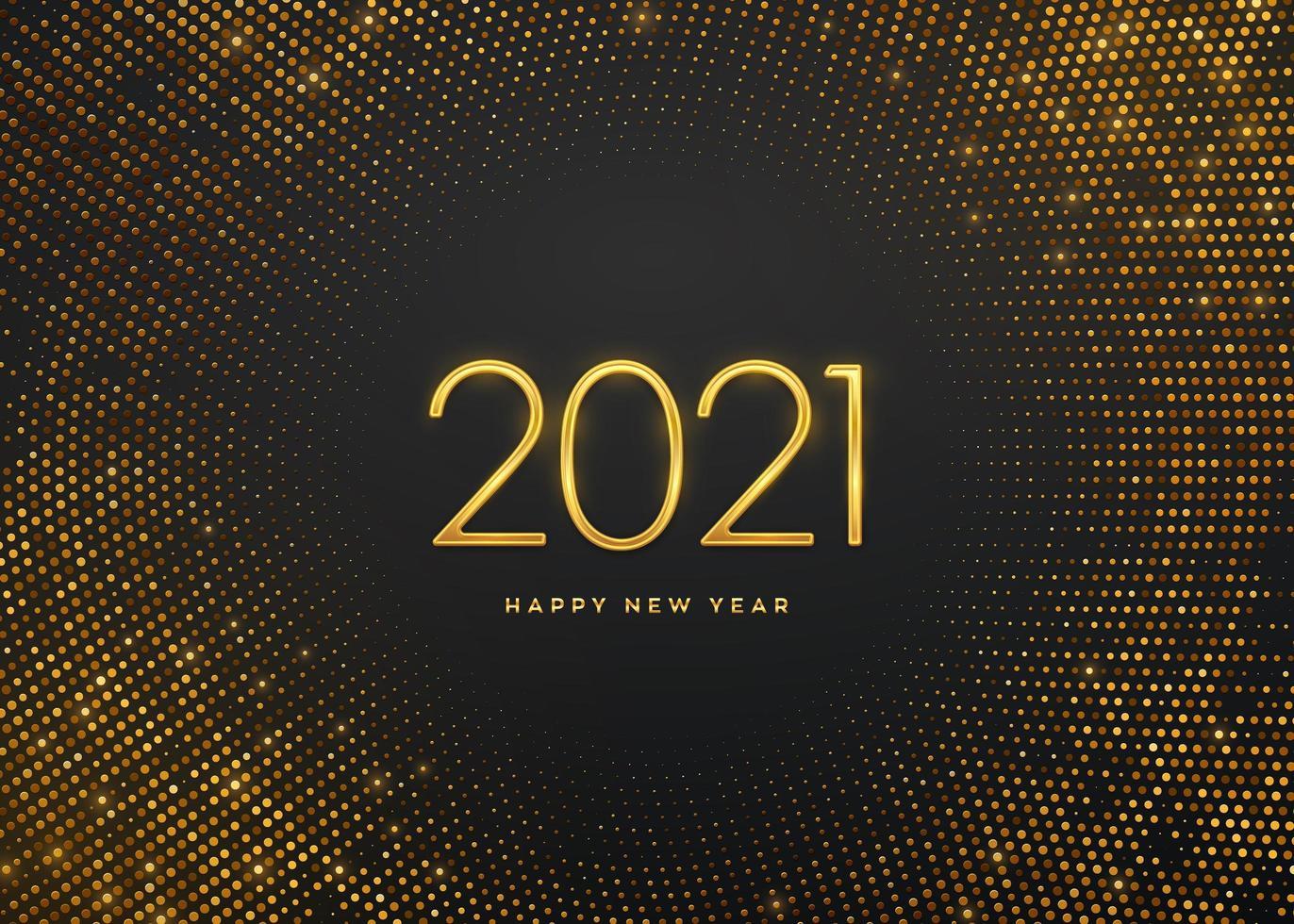 Frohes neues Jahr goldene Luxuszahlen 2021 vektor
