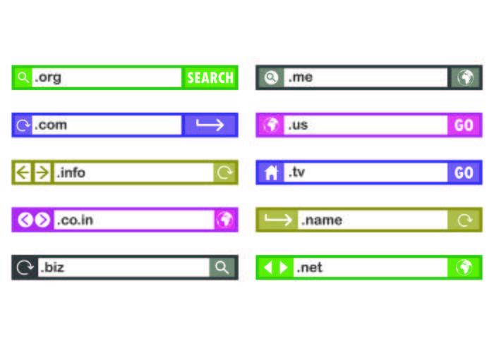 Set of Domain Icon vektor