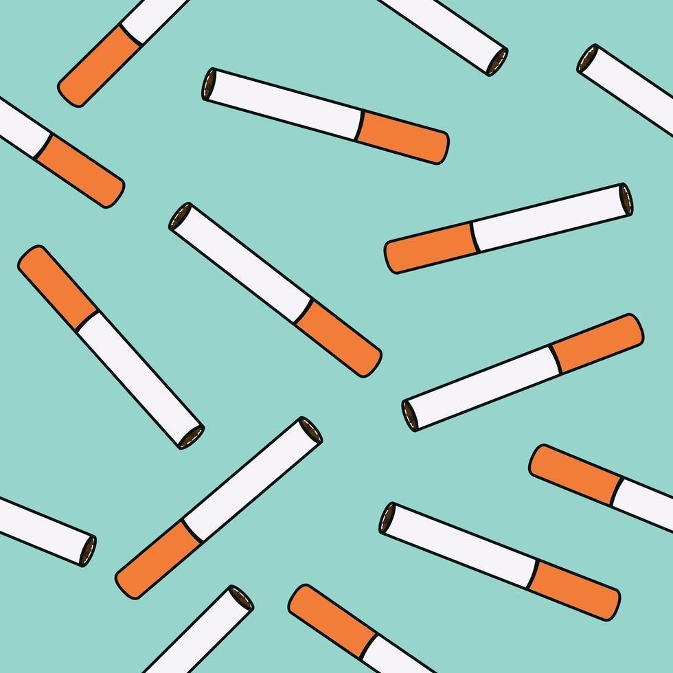 cigaretter sömlösa mönster vektor