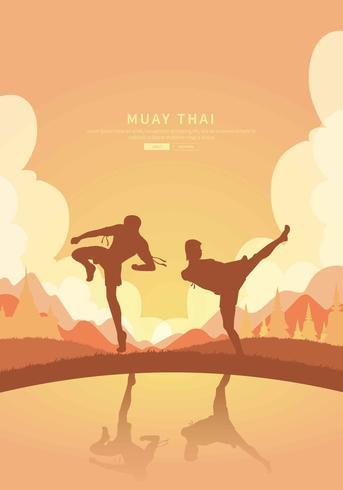 Kostenlose Muay Thai Illustration vektor