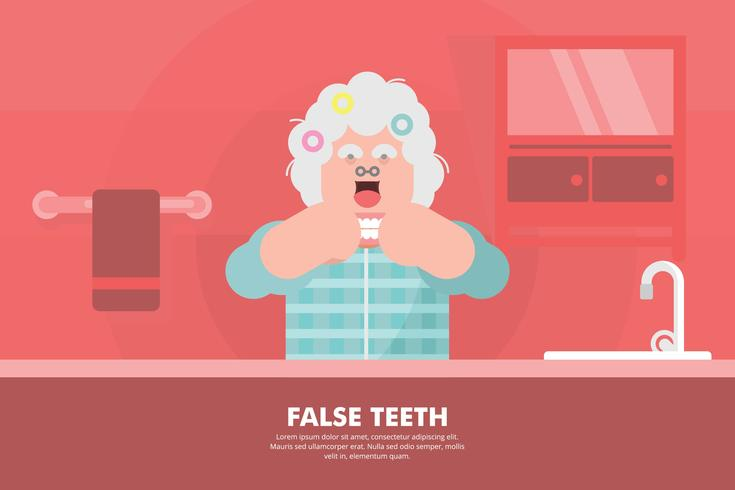 Falsche Zähne Illustration vektor