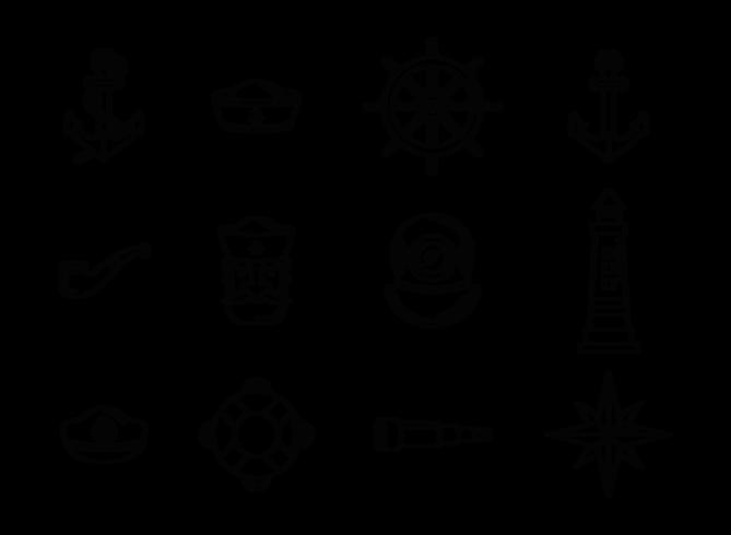 Seemann Icons Vektor