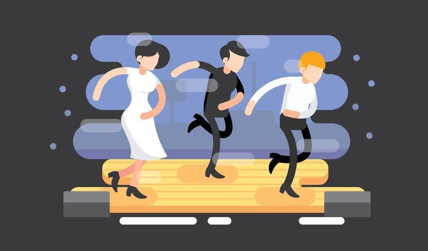 Kostenlose Tap Dance Vektor