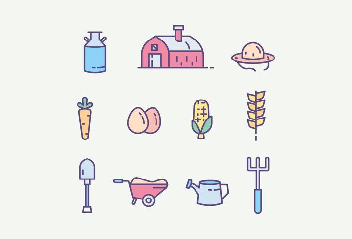 Kostenloses Farm Icon Pack vektor