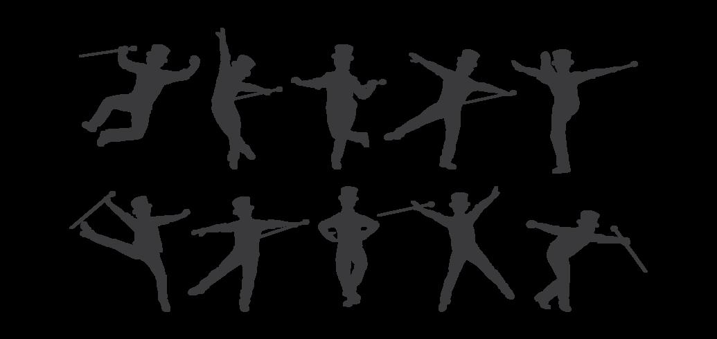 Tryck på Dance Silhouettes Vector