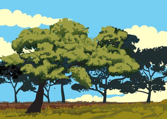 Landskap av Gum Tree Vector