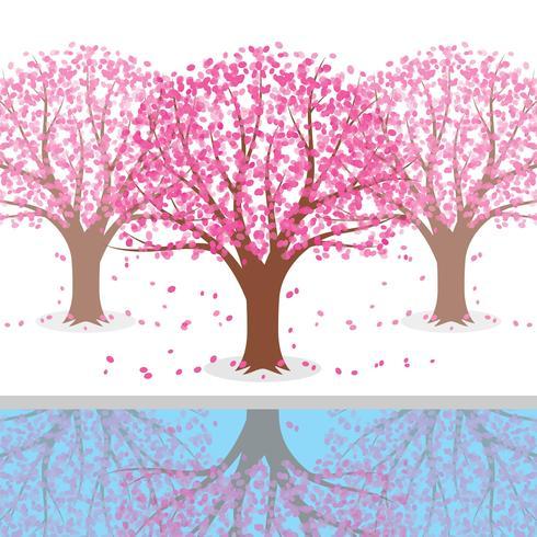 Japanische Pflaumenblüte Baum Illustration vektor