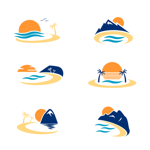 Bucht-Logo-Vektor vektor