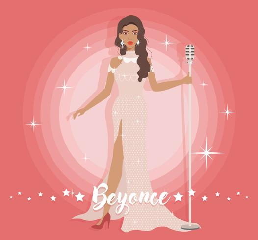 Schönes Kleid Beyonce Vektor