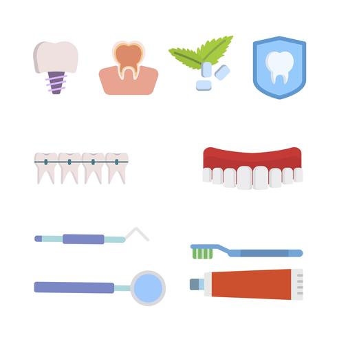Flache Zahnarzt-Vektoren vektor