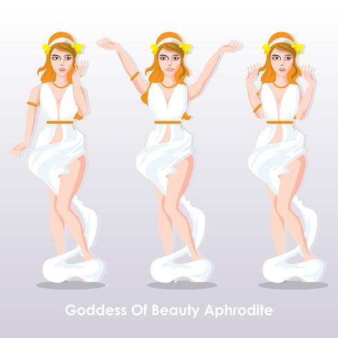 Nette Pose der Aphrodite vektor