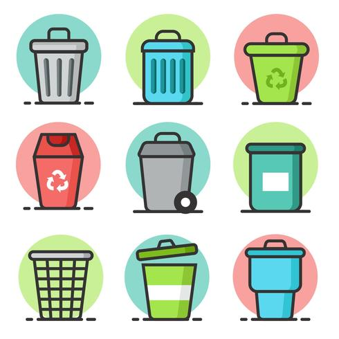 Gratis återvinningsvektor för avfallskorg vektor