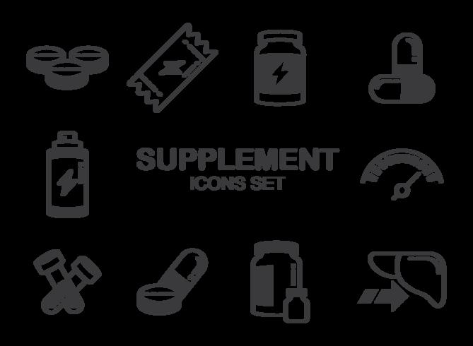 Supplements Ikoner Vector